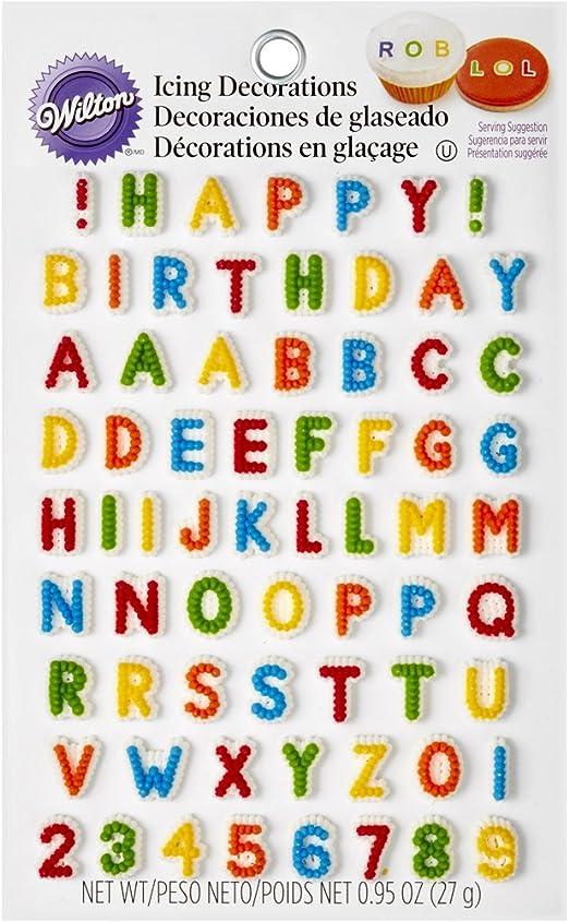 Amazon.com: Wilton 710-6042 Letras y números comestibles ...