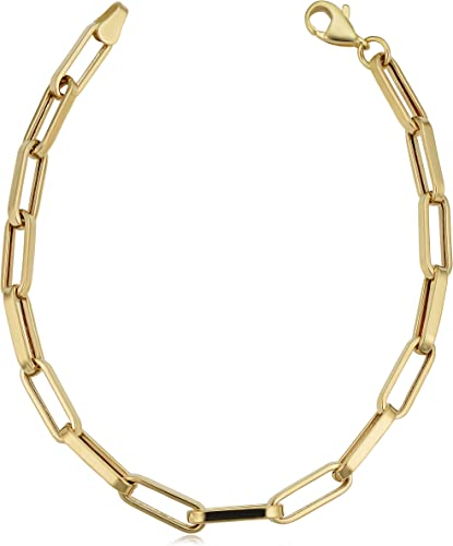Gift Hollow 14k Yellow Gold Dazzling Detail Bangle Glam Style 7.8 inches
