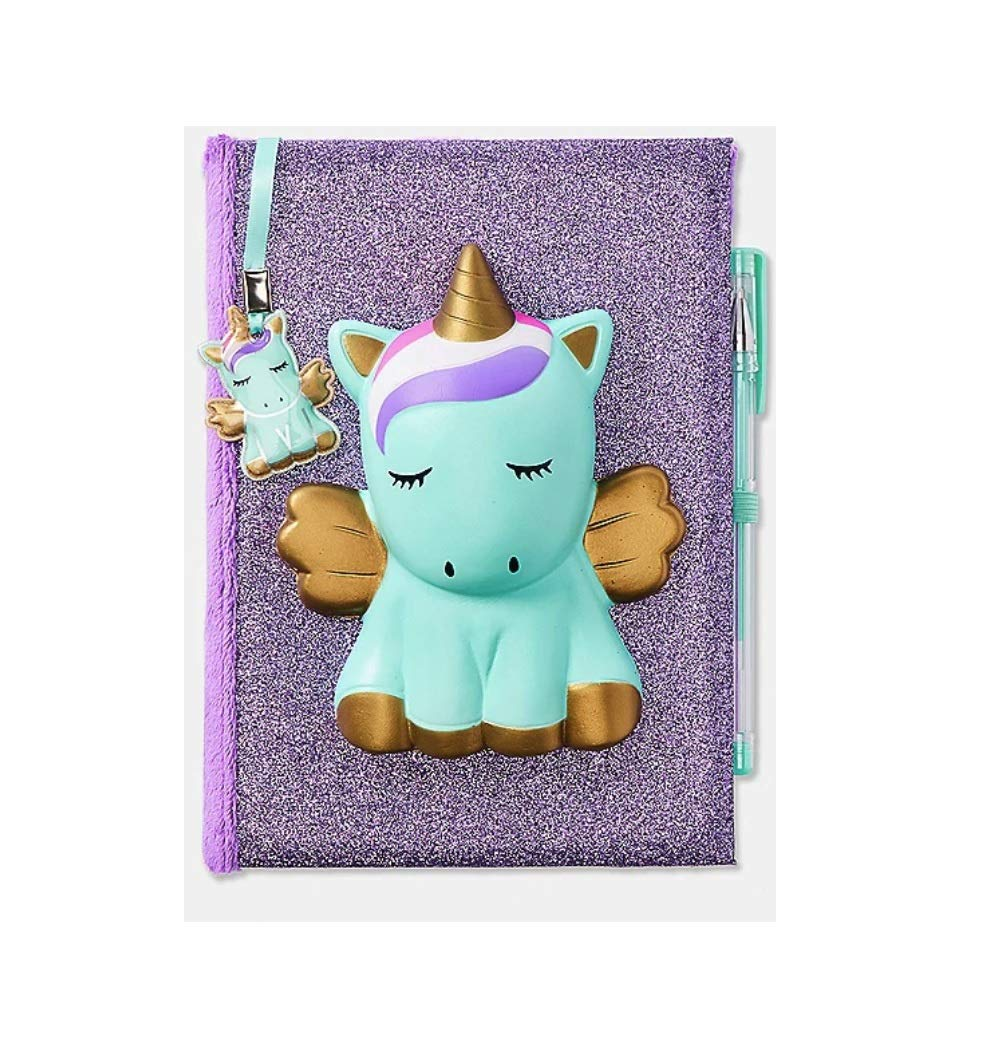 Justice Unicorn Squishy Squish Diary Journal by Justice