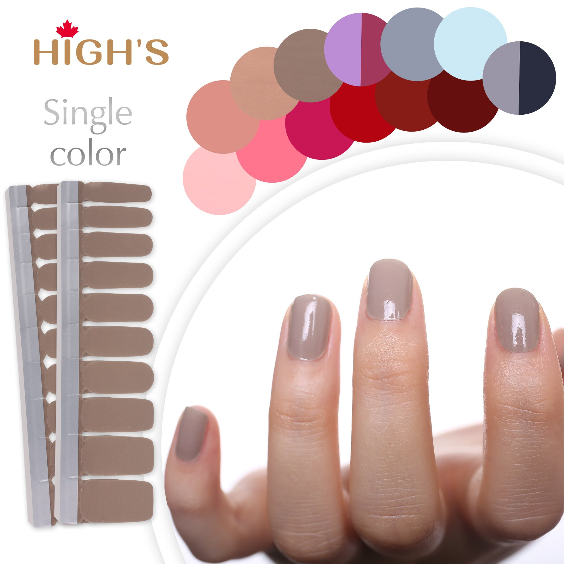 Real Nail Polish Strips French Manicure - Creative Touch