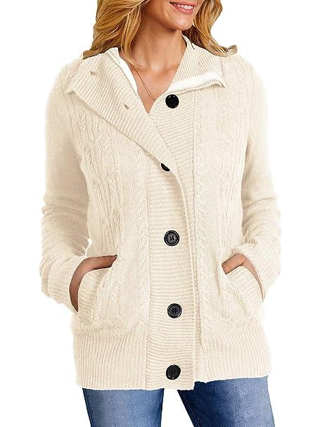 Amazon.com: Yacooh Abrigo con capucha para mujer, con forro ...