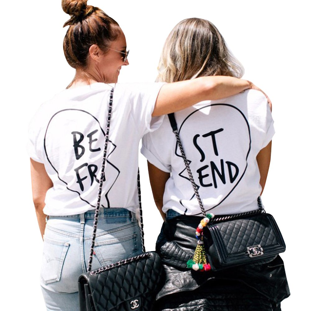 Best Friends T Shirts Women Funny Tumblr Grunge Graphic Tee Tops Plus Size Germinate