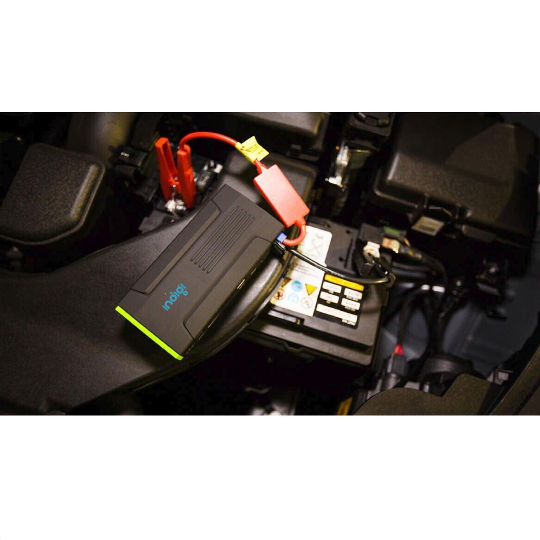 Amazon.com: Indigi 12800mAh USB Multi-Functional Mobile Rechargeable 12V Car Jump Starter Power Bank Emergency Kit: Automotive