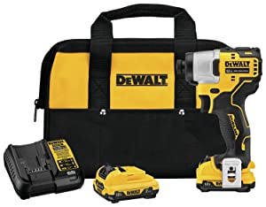 DEWALT DCF801F2 Xtreme 12V Max Brushless 1/4 in. Cordless Impact Driver Kit