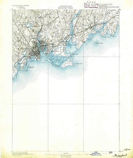 Amazon.com: YellowMaps Bridgeport CT topo map, 1:62500 Scale, 15 X ...