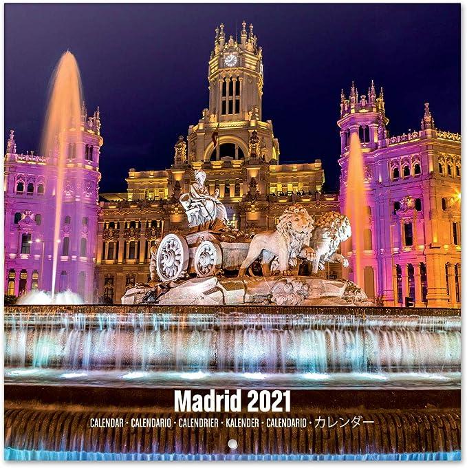 Amazon.: Madrid 2021 Wall Calendar 11.8 x 11.8 inches (16
