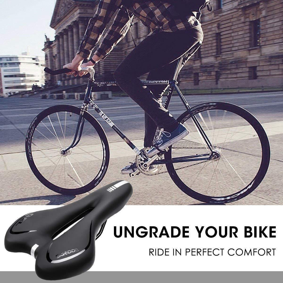 Schwarz Hohl Ergonomisch Fahrradsitz Sgodde Unisex Adult Gel Fahrrad Sattel