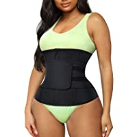 TrainingGirl Women Waist Trainer Cincher Belt Tummy Control Sweat Girdle Workout Slim Belly Band for Weight Loss