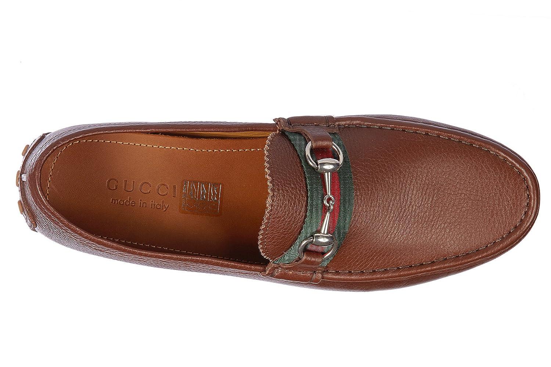 Gucci Mocasines en Piel Hombres Nuevo Road marrón EU 43 322741 AHM 102560: Amazon.es: Zapatos y complementos