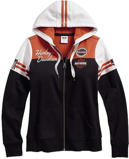 Genuine Pullover Damen Hoodie, Harley Davidson, Schwarz, 1W LADY