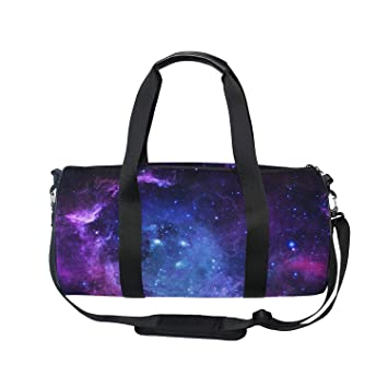 Amazon.com: oulian bolsa deportiva nebulosa morado Galaxy ...