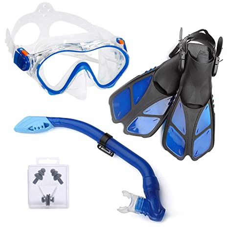 babfcf4c8c0 Amazon.com   ELEMENTEX Naga Sports Series Kids Snorkel Set with Dry ...