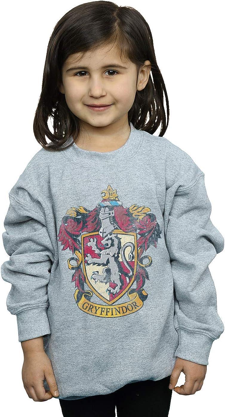 Harry Potter Girls Gryffindor Distressed Crest Sweatshirt