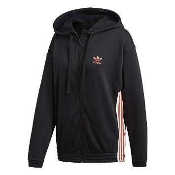 es Negro Hoodie Zip Chaqueta Adidas Amazon negro Mujer IHqS0