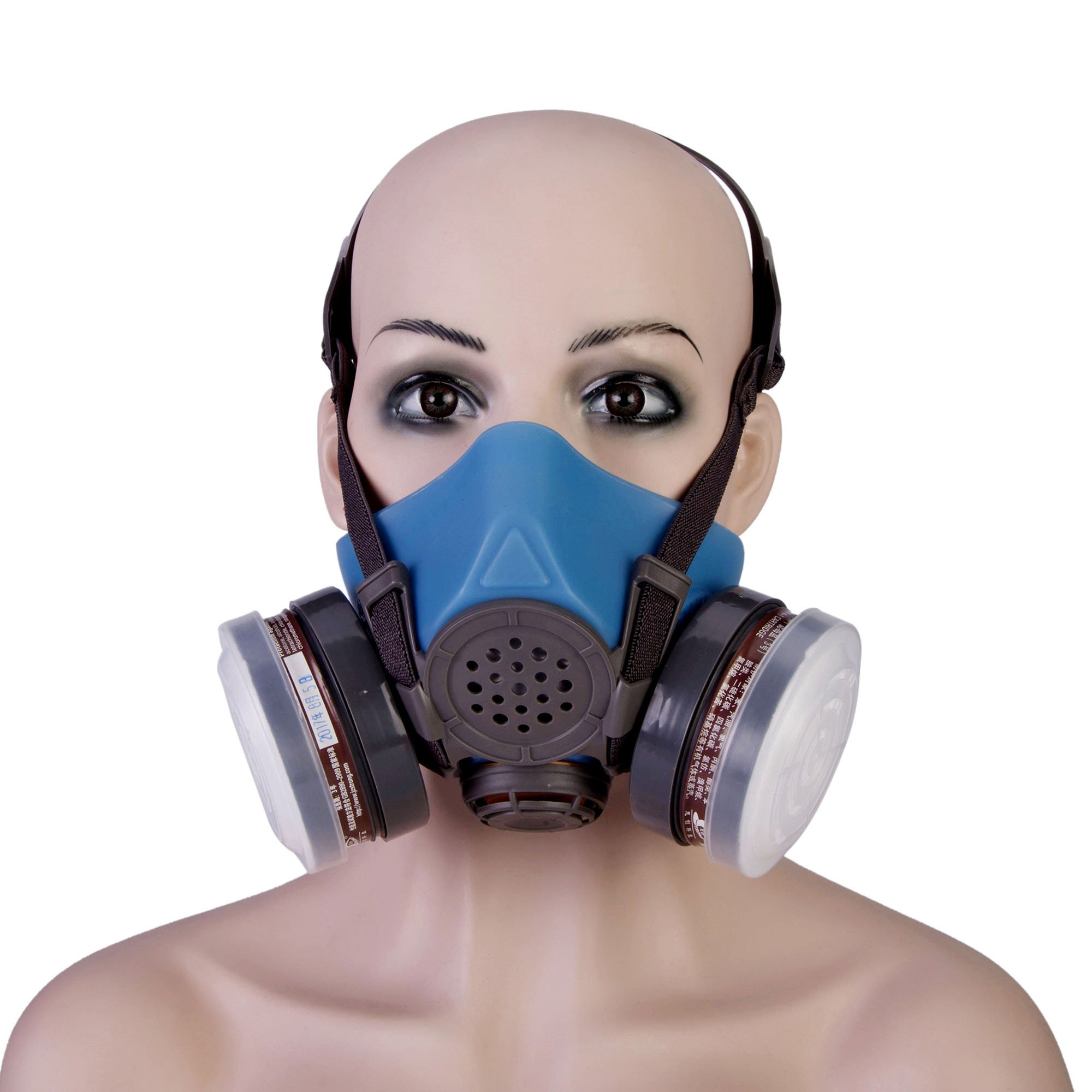 Joyutoy 3600 Series Half Facepiece Reusable Respirator Industrial Gas Chemical Anti-Dust Paint and Pesticide Respirator Mask with Adjustable Straps