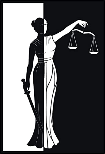 Metal Wall Art Lady Justice Themis-III Design/Unique Gift/Lawyer Office Gift/Law Theme Accessories//Metal Accessorie