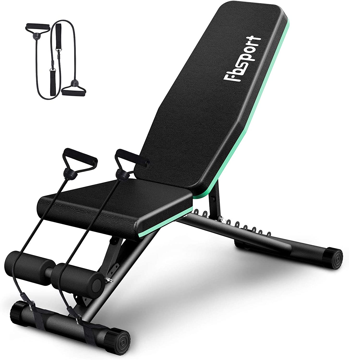 Multifunction Adjustable Weight Bench Foldable Incline Benches Dumbbell Sit-ups Fitness Equipment Training Anti-Slip Install for Indoor Gym Dedicated etcA