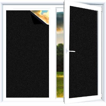 Do4U Verdunklungsfolie für Fenster, Sichtschutz zum Aufkleben, Blickdicht, 100% lichtundurchlässig, Vinylaufkleber ohne Gelkl
