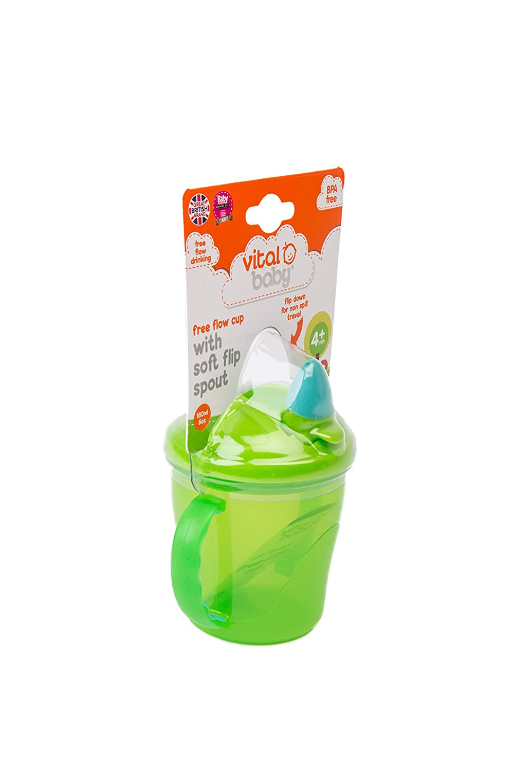 Vital Baby Free Flow Cup Green and Turquoise