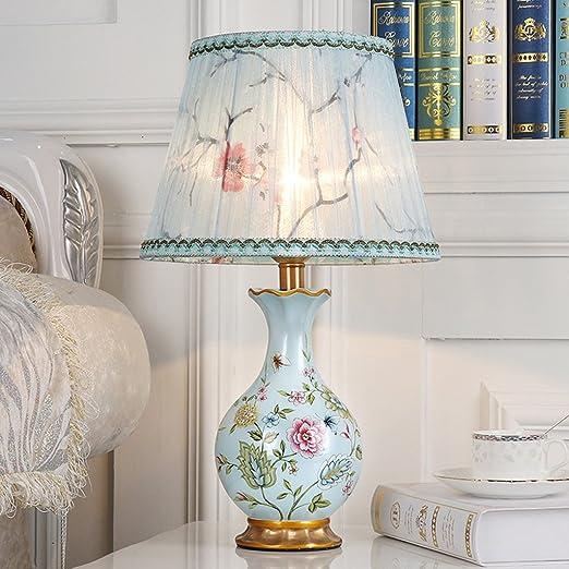 MXD Paralume in tessuto Lampada da tavolo classica Lampada