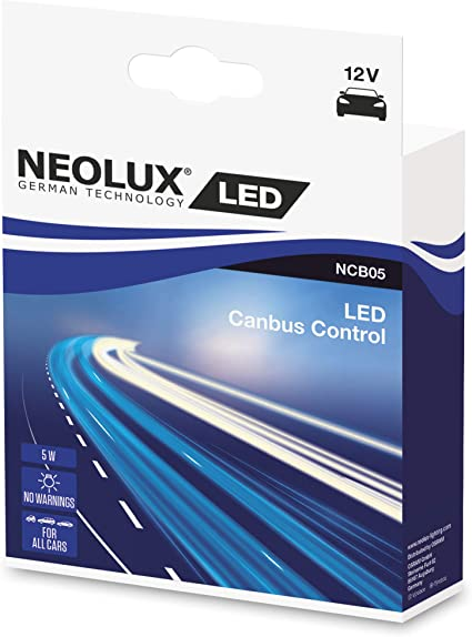 NEOLUX Canbus Control para Retrofit LED, Off-Road, NCB05, 12V, 5W, Caja plegable (2 bombillas): Amazon.es: Coche y moto