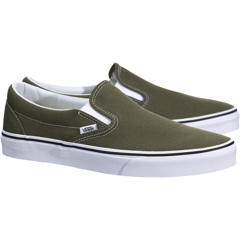 Vans ''Classic Slip-On Sneakers (Winter Moss/True White) Unisex Skate Shoes by Vans (Image #2)