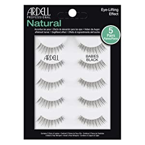 Ardell False Eyelashes Natural Babies Black, 1 pack (5 pairs per pack)