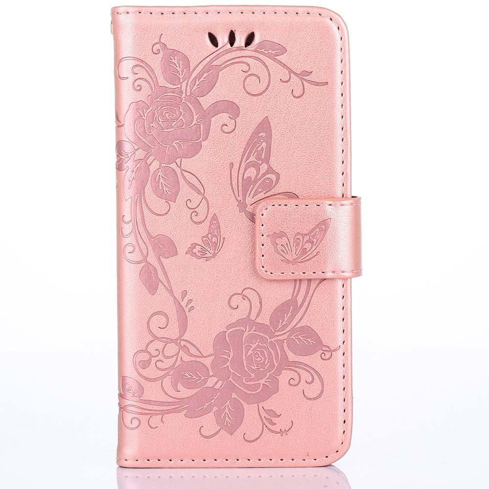 iPhone 6s Case, [Wallet Case] ESSTORE Kickstand Apple iPhone 6 Case 4.7 inch Leather Cover with Credit Card [ID Holders], Rose Gold
