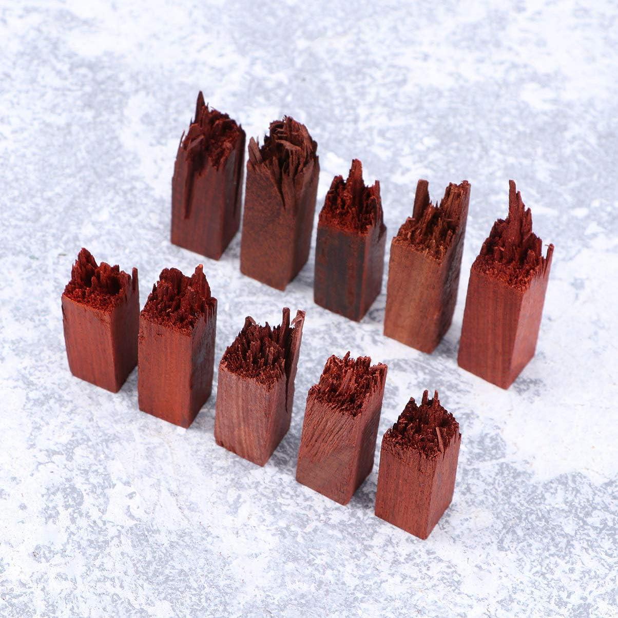 SUPVOX 10pcs Artisanat en Bois Ornement r/ésine mat/ériel en Bois pi/èces en Bois pour r/ésine /époxy Artisanat pour Fabrication de Bijoux Pendentif en r/ésine