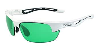 Bollé Bolt S - Gafas de sol deportivas, color blanco brillante