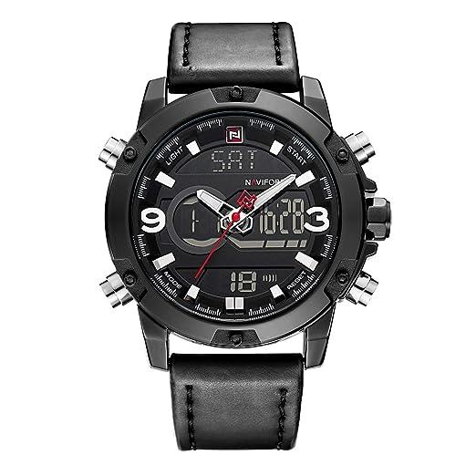 ce4af715b4907 Montre de Sport analogique numérique pour Homme à Double Affichage de  l'heure, en