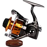 Goture Small Spinning Ice Fishing Reel Collapsible Handle and Metal Shaped Body