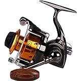 Goture Spinning Fishing Reel 3+1BB Smooth Lightweight Fishing Reel Silver Golden Brown