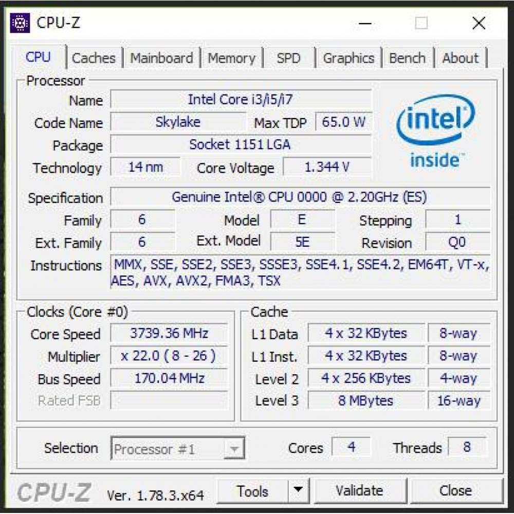 Intel QHQG Versi/ón De Ingenier/ía ES De I7 6400T I7-6700K 6700K Procesador CPU 2,2 GHz Q0 Paso Quad-core Socket 1151