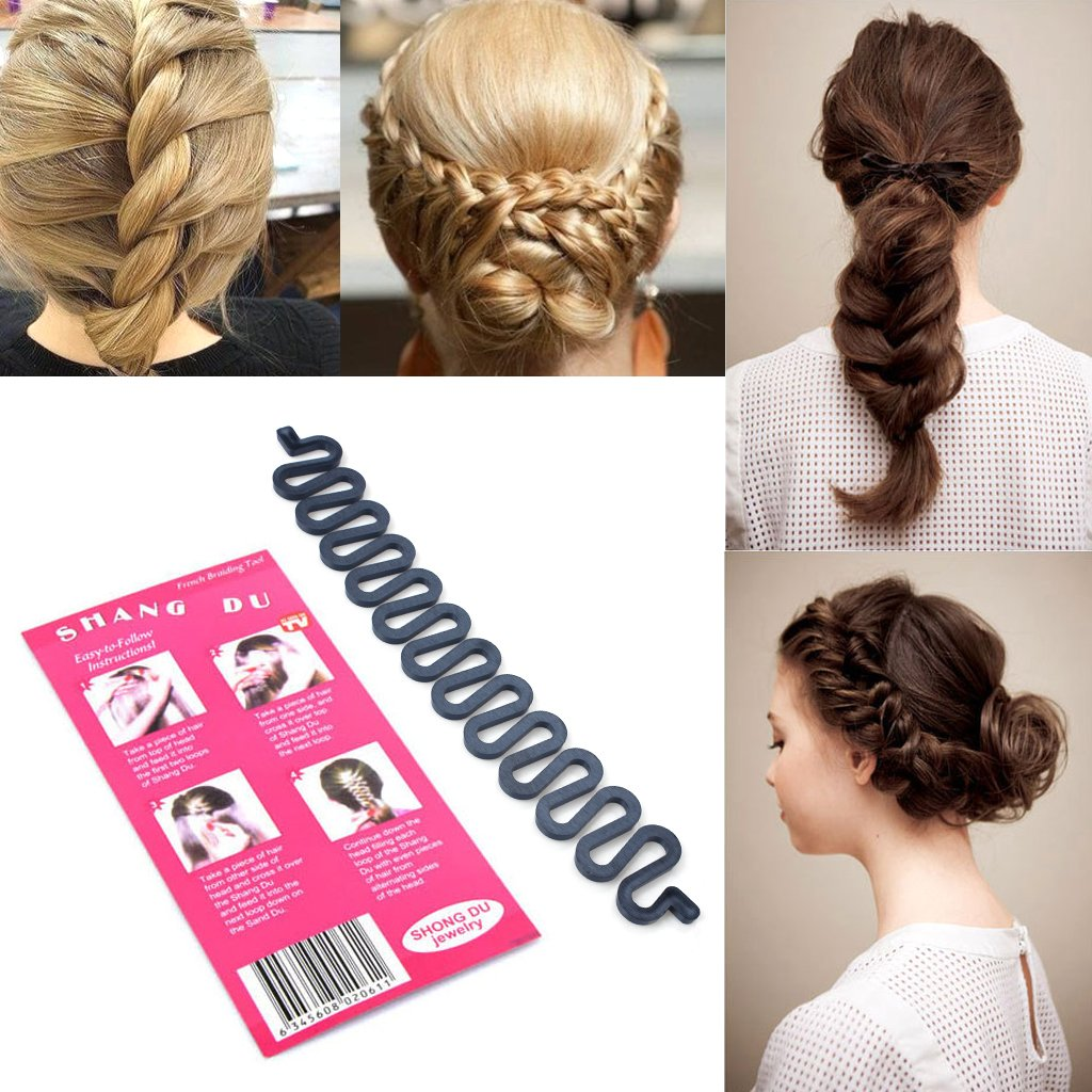 3PCS French hair braiding tool roller with hook Magic hair Twist Styling Bun maker New edealing