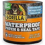 Gorilla 4612502 - Cinta selladora resistente al agua, 10,16 x 25,4 cm, color negro