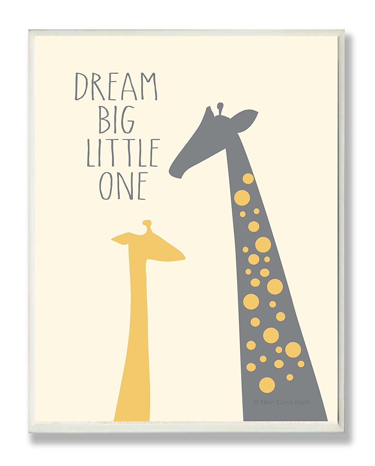 Dream Big Little One With Giraffes Rectangle Wall Plaque