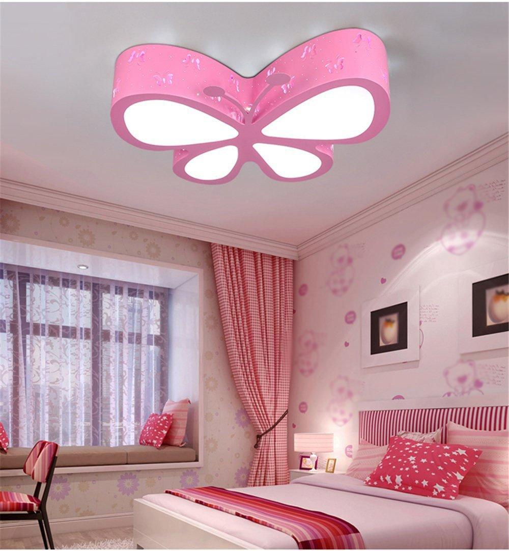 Malovecf - Lámpara de techo para dormitorio dormitorio lámpara LED creativos mariposa iluminación Guardería niña Princesa habitación iluminación, 500 ...