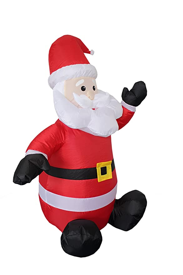 amazoncom 4 foot christmas inflatable santa claus blow up yard decoration clothing