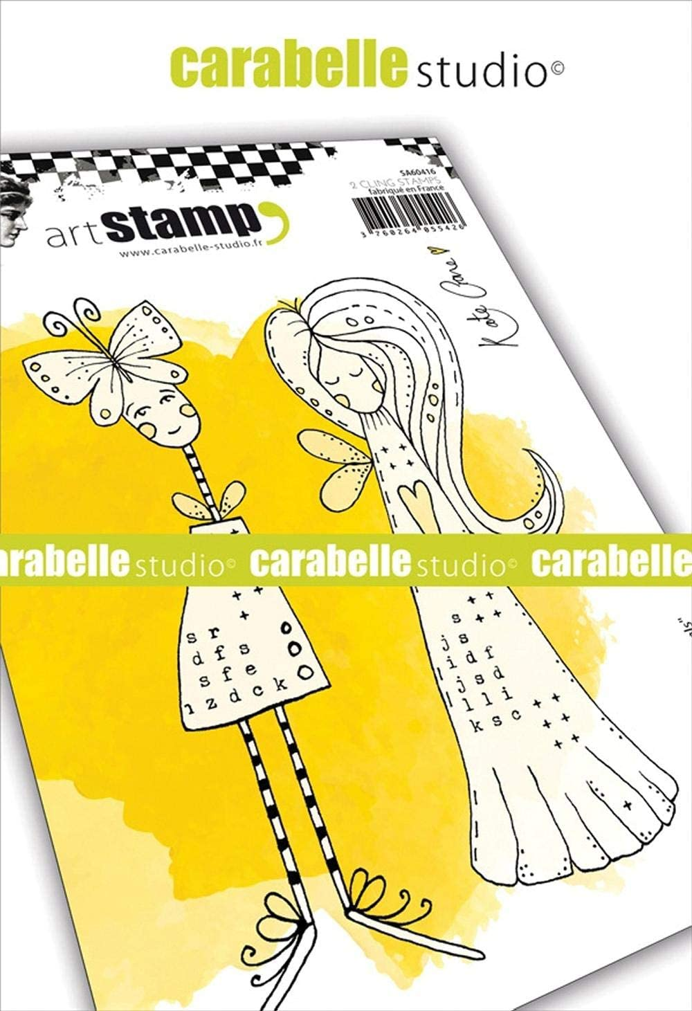 Carabelle Studio SA60448 Cling Stamp A6 by Kate Crane-Crayoned Florals