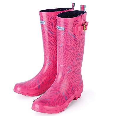 Urban Beach Women s Wolf Pink Festival Wellies Flip Flops B073FJTXMW