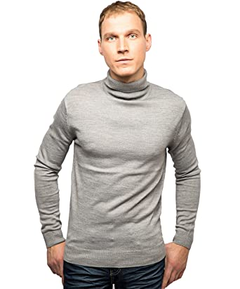 2988debaa7bc99 Soul Star Mens Roll Neck Jumper Regular Fit Fine Knit Funnel Polo Neck  Knitted Sweater (XXL - XX-Large, Light Grey): Amazon.co.uk: Clothing