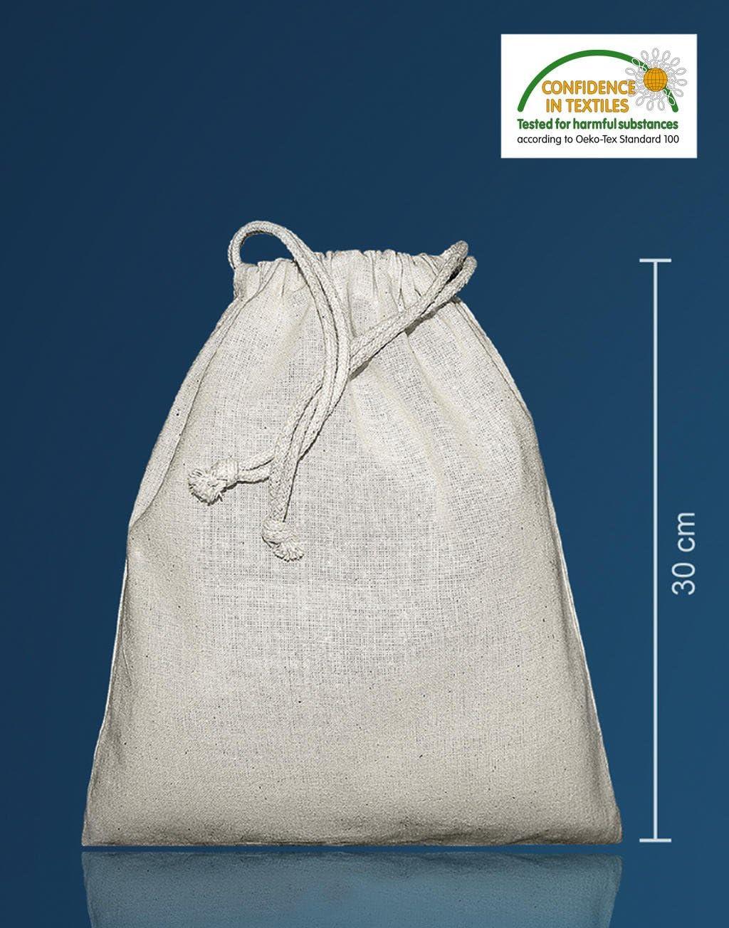 Bolsa de tela zuzieh Bolsa con cordón Natural 25 X 30 cm, 10 unidades): Amazon.es: Hogar