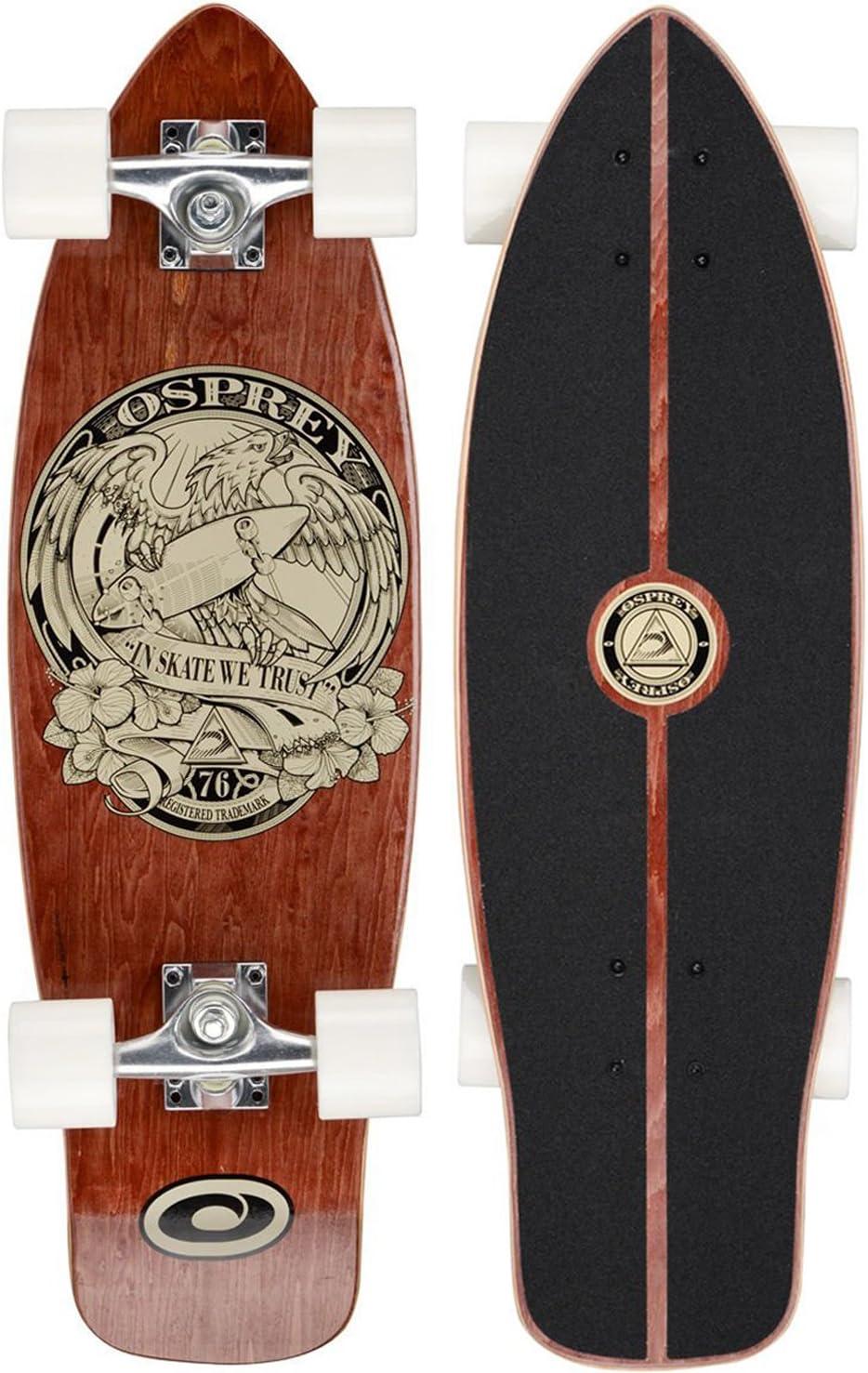 Osprey TY5343 Mini Cruiser 'In Skate We Trust' - Skateboard, color marrón, talla UK: 27 3/4 Inch