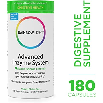 Rainbow Light - Advanced Enzyme System - Plant-Sourced Whole Food Enzyme Supplement