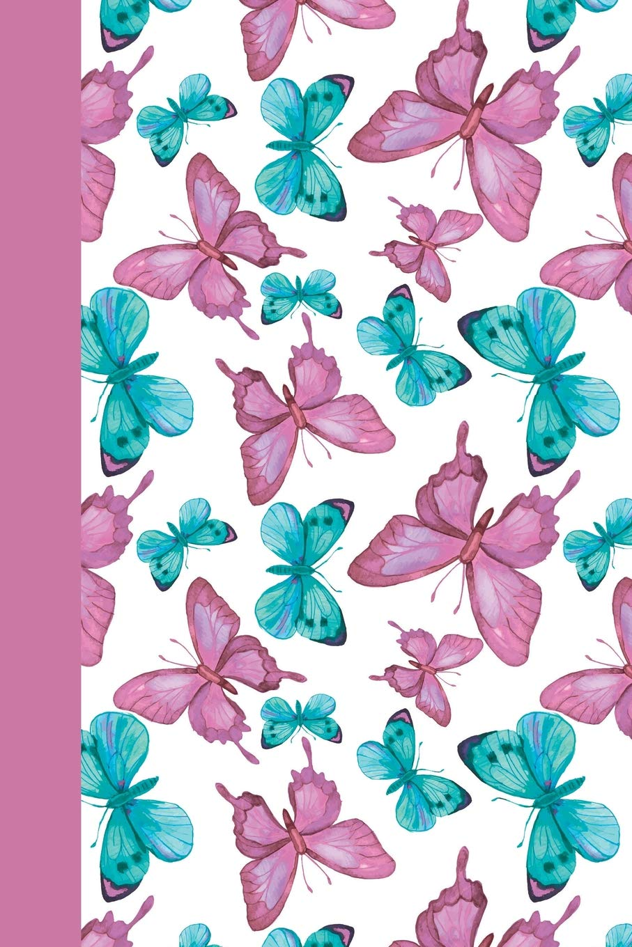Download Sketchbook: Pink and Blue Butterflies 6x9 - BLANK JOURNAL WITH NO LINES - Journal notebook with unlined pages for drawing and writing on blank paper (Birds & Buttterflies Sketchbook Series) pdf epub