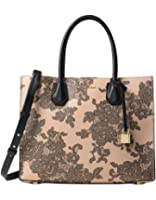 Michael Kors Mercer Lace Large Convertible Tote in Oyster Beige