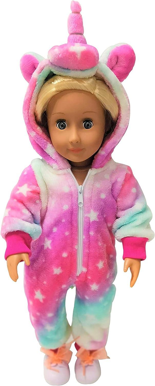 Unicorn Pajamas Onesie Costume Matching Doll /& Girls Gifts