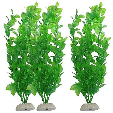 Laileya Vivid Plantas Artificiales de Agua Alga Marina Verde de plástico pecera decoración Vegetal para Acuario