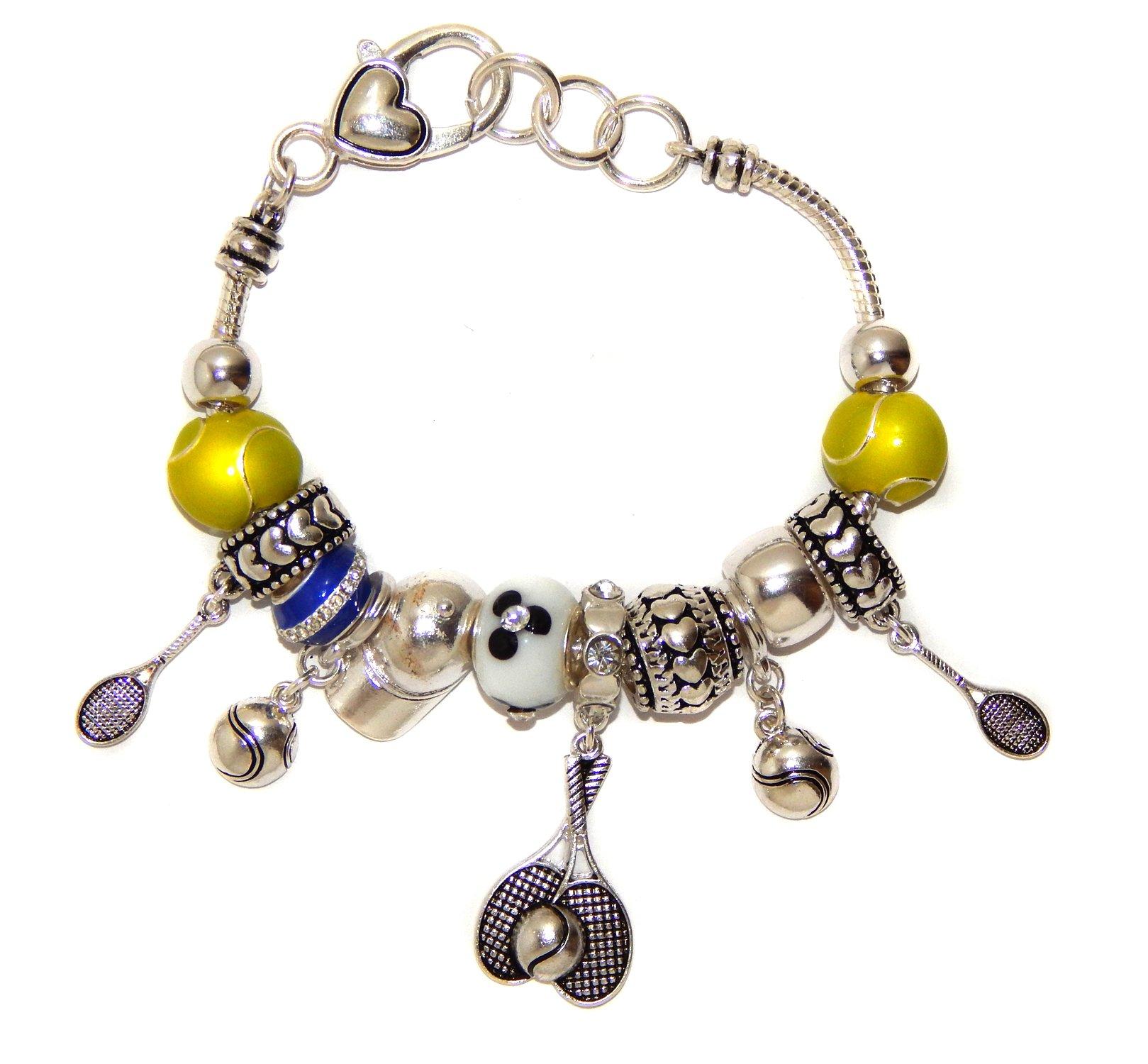 Landau Ambrosia Tennis Theme Charm Bracelet